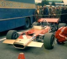 Lotus 49 Rindt 1970 Race of Champs Brands Hatch paddock